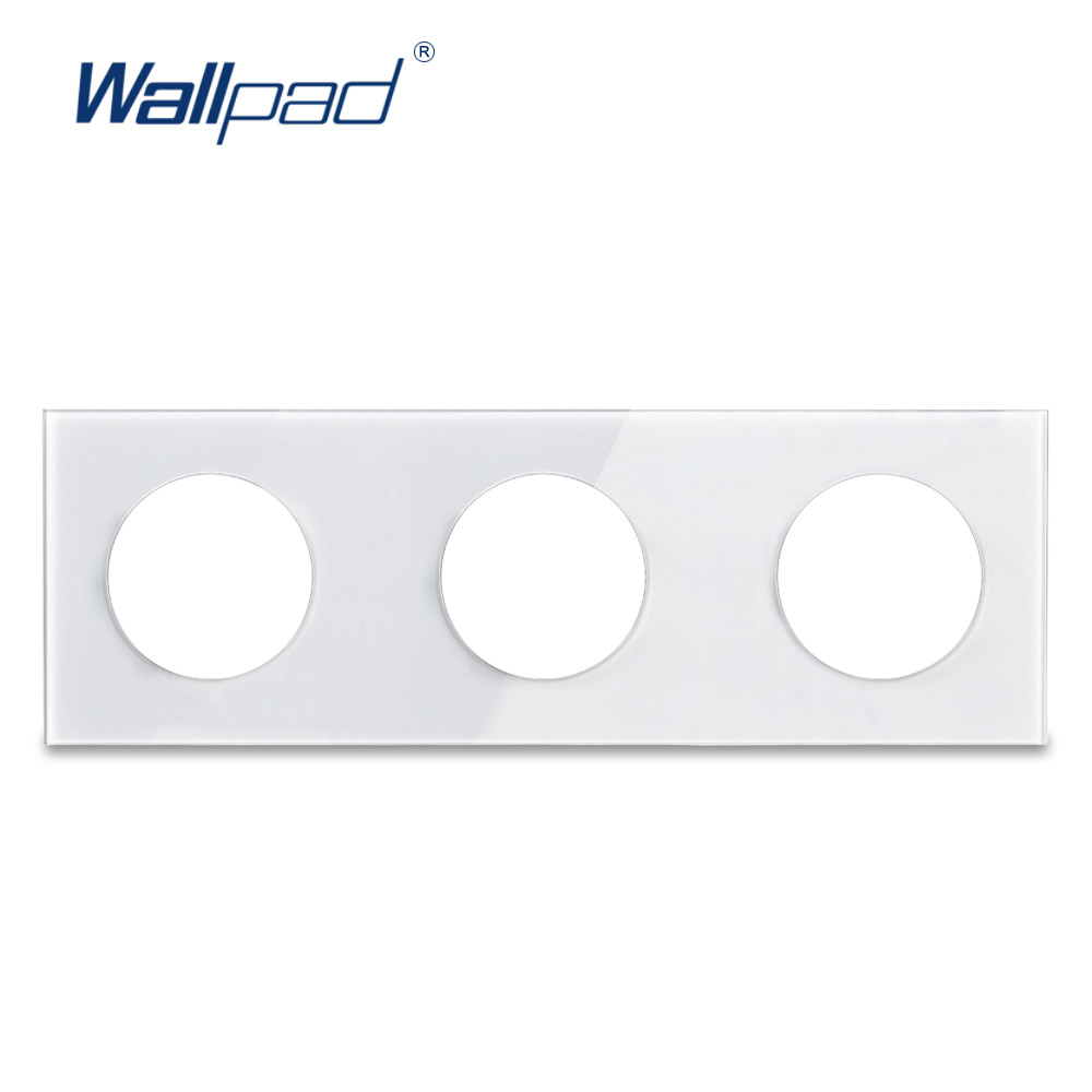 Wallpad Triple Gehärtetem Glas Panel Nur 258*86mm Weiß Und Schwarz Runde Kreis