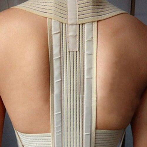 Unisex Adjustable Posture Corrector Body Back Brace Support Shoulder Band Belt