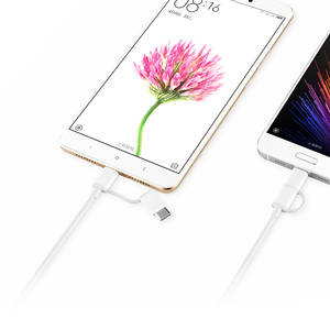 Image 2 - Global Version Xiaomi Two in One Charging Cable Micro USB to Type C Support Fast Charge for Xiaomi Smart Phone Xiaomi Mi Pad