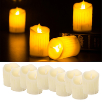 10pcs Flickering Flames Candles Realistic LED Candle Dancing Flame Light Indoor and Outdoor Battery Operated Wedding Party Decor