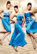 2014 New Arrivals Sheath Vestidos De Festa Corset Royal Blue Backless Floor Length Long Bridesmaid Dresses