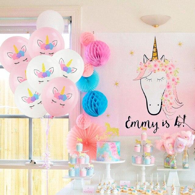 10 шт 12 дюймов Единорог латексный воздушный шар Набор DIY мультфильм Лошадь Единорог шары принцесса день рождения вечерние украшения свадебные глобусы