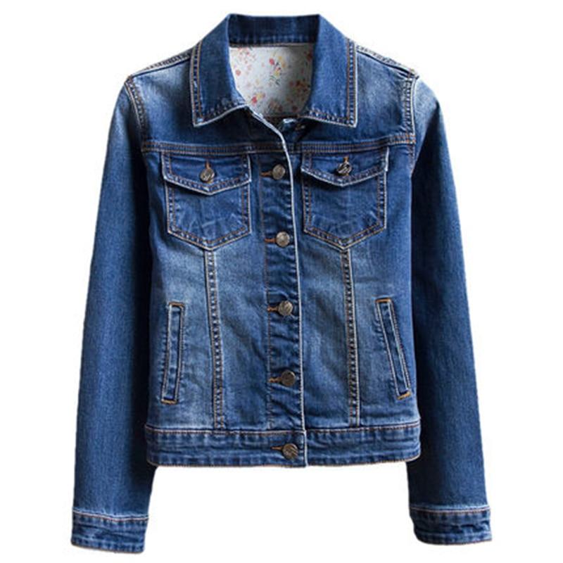 Fashion 2018 Spring Autumn Denim Jacket For Women Slim Retro Bomber Basic Jackets Girls Jeans Coats Plus Size Clothes A337