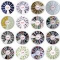 3D Encantos de Uñas Rueda Arte Diseño Decoraciones De Piedra Strass Joyería DIY Nailart Adhesivo Piedras Mix