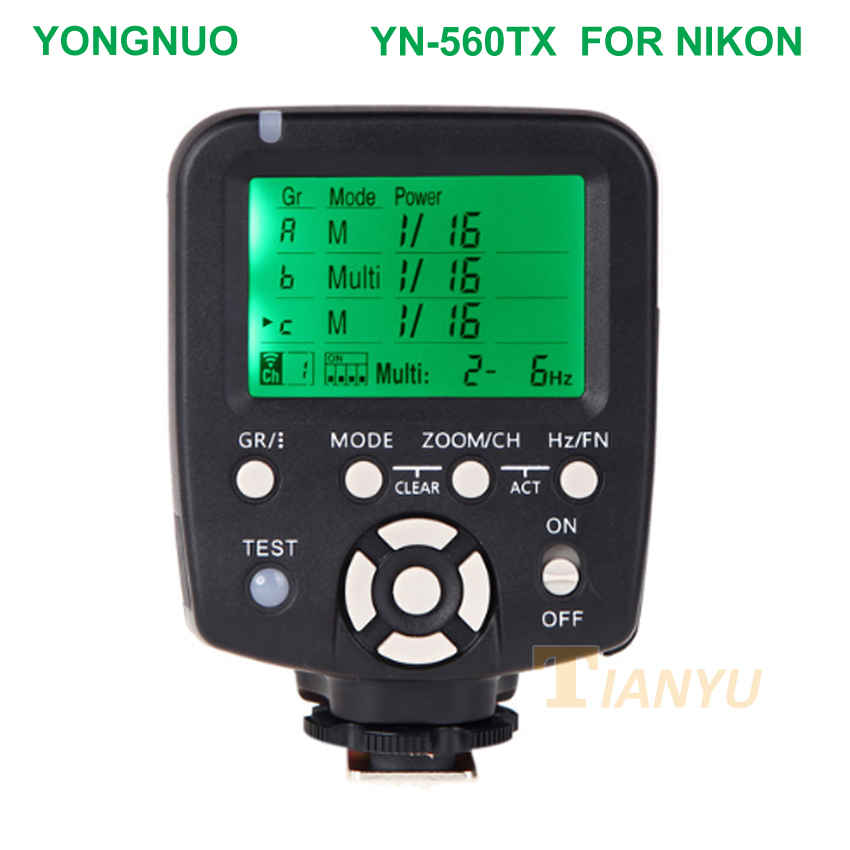 YN560TX II YN560-TX NII Wireless Flash Controller and Commander for Yongnuo YN-560III YN560TX Speedlite for Nikon DSLR Newest цены