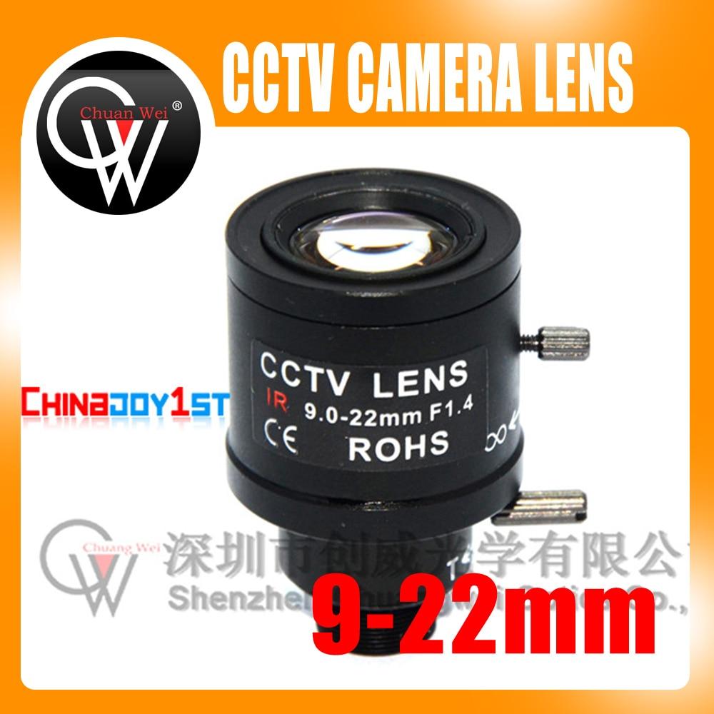 5pcs/lot 9-22mm Lens Varifocal Fixed Iris Infra Red CCTV Camera Zoom Board CCTV Lens For CCTV Camera