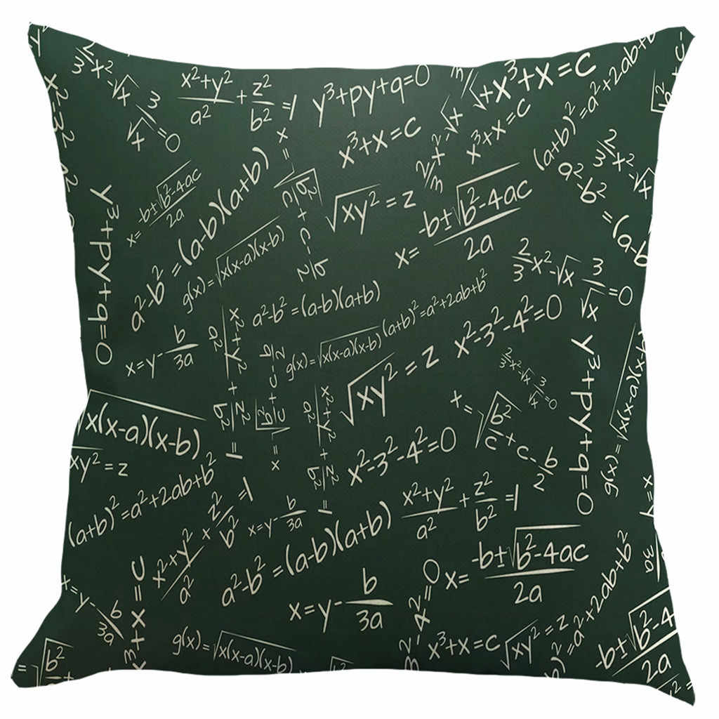 Funda de almohada fórmula física funda de almohada decoración del hogar 45x45 funda de almohada decoración del hogar Festival mármol APR16