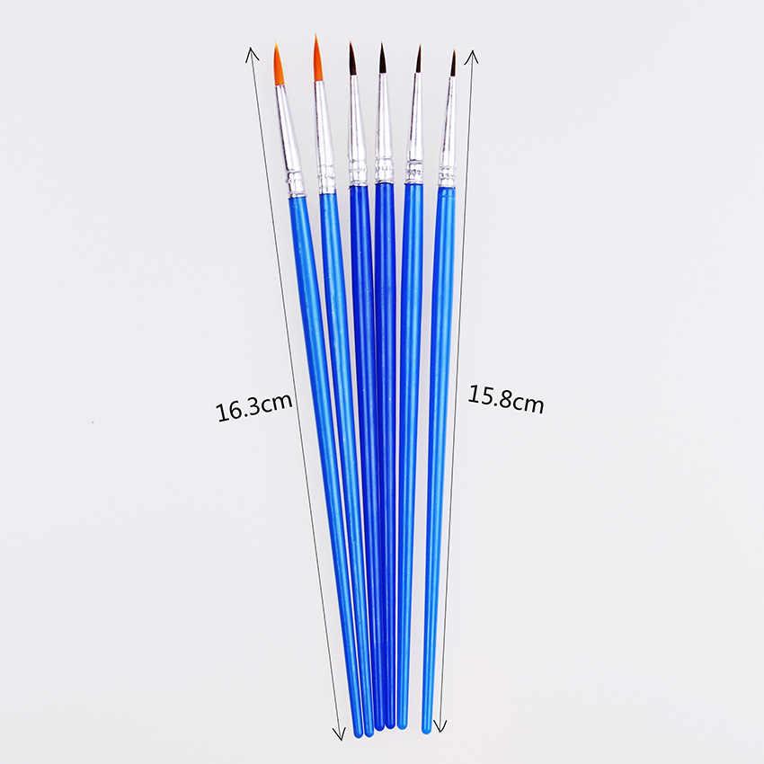 Тонкой ручной Краски ed тонкий ручка-закладка синий скетч-Бук арт кисть нейлон кисть Ручка 10 шт./компл.