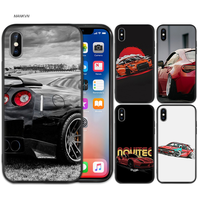 Alarm Case Cover Voor Iphone Xs Max X Xr 6 6 S 7 8 Plus 5 Se 5 S Scrub Siliconen Telefoon Gevallen Zachte Drift Auto's Pure En Milde Smaak