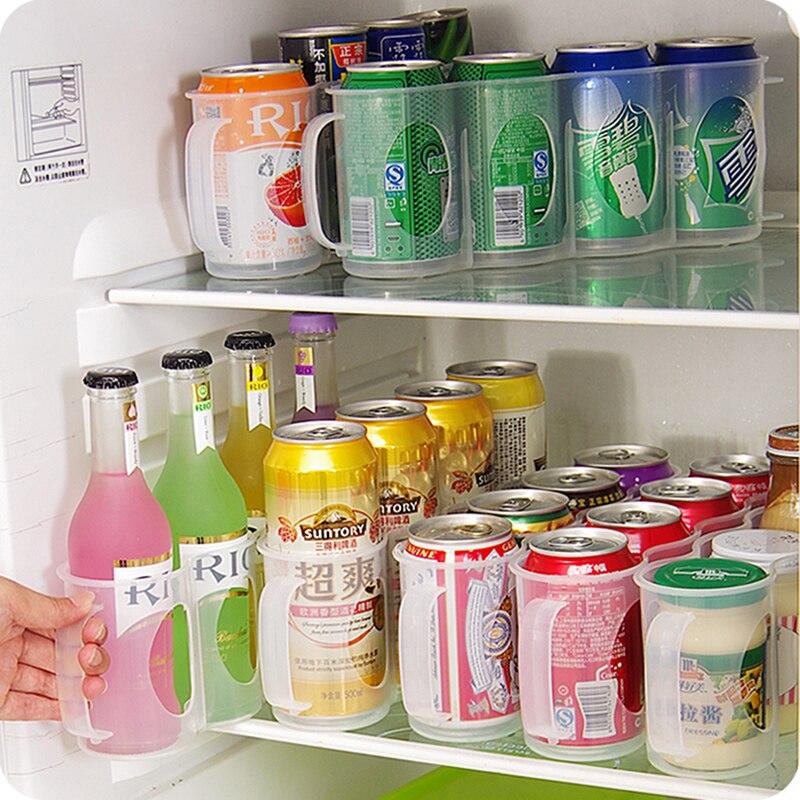 Refrigerator-Storage-Box Four-Case Organizer Space-Saving Beverage Kitchen-Accessories