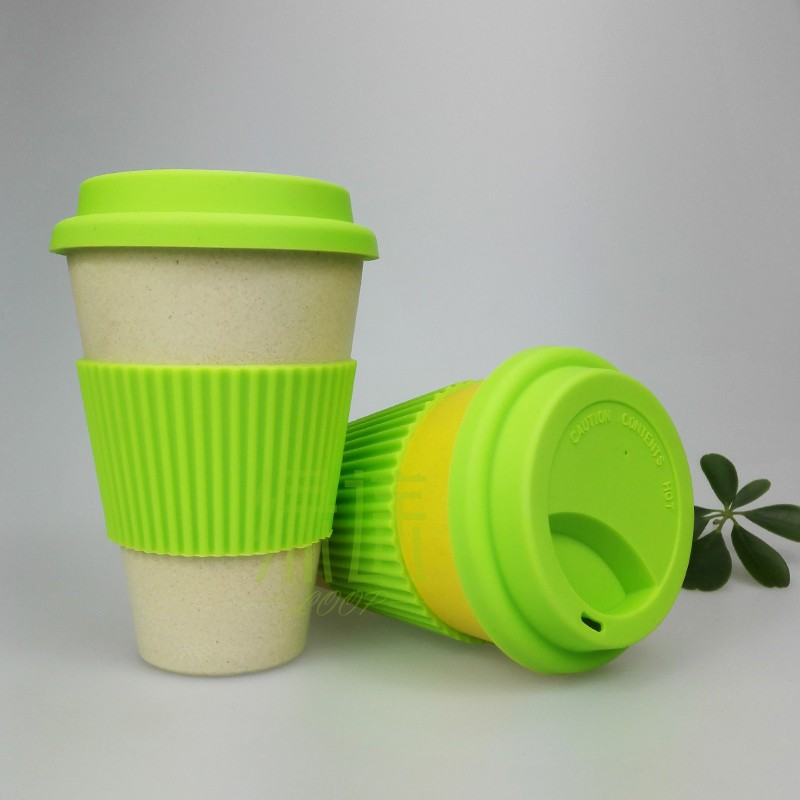 2015 new top grade eco mug modern eco friendly bamboo mug cups fiber powder white yellow china eco friendly modern office