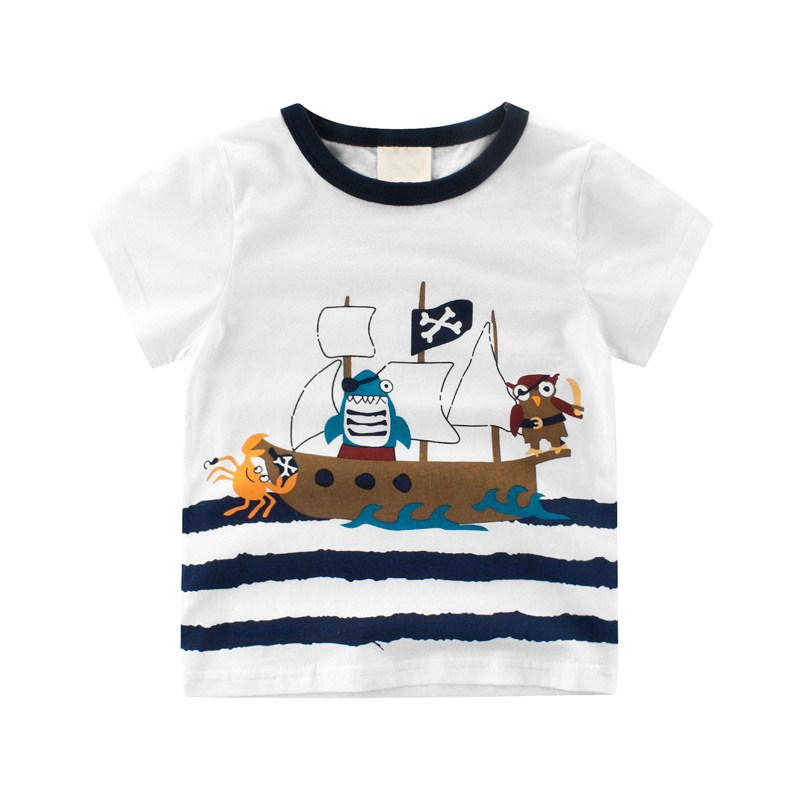 Cotton Short Sleeve T-Shirts For Boys Girls Toddler Kids Boys Girls T-shirt Tee Top Clothes T-shirt For Children Baby Top Tshirt