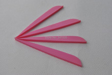 Pink color 4 plastic vane vein 100 pieces for DIY arrow crossbow bolt accessories archery bow