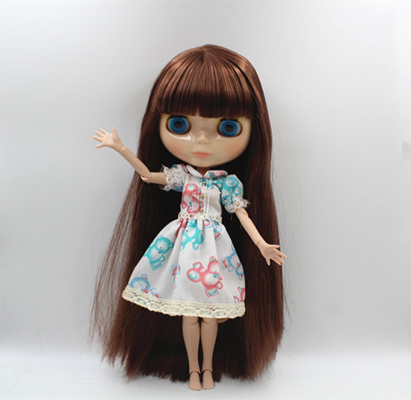 Free Shipping BJD joint RBL-364J DIY Nude Blyth doll birthday gift for girl 4 colour big eyes dolls with beautiful Hair cute toy free shipping bjd joint rbl 415j diy nude blyth doll birthday gift for girl 4 colour big eyes dolls with beautiful hair cute toy