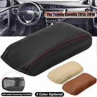 Car Styling Fiber Leather Armrest Cover Protection Central Box for Toyota Corolla 2013 2014 2015 2016 2017 2018
