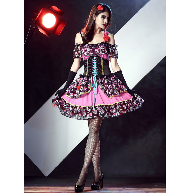 SESERIA Halloween Adult Funny Circus Clown Costume Naughty Harlequin Uniform Fancy Cosplay Clothing for Women Clown