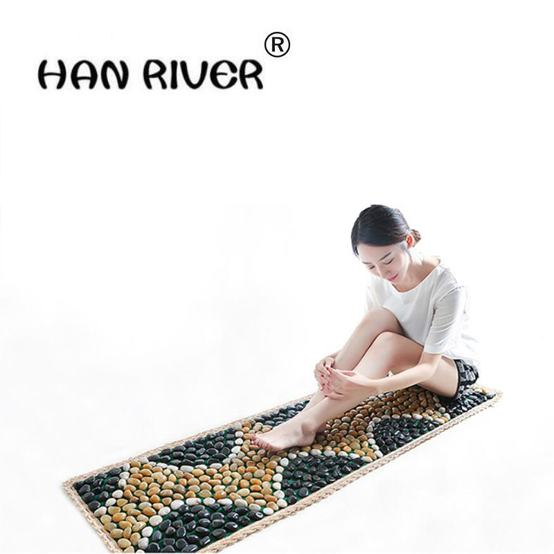 HANRIVER 150 * 40 cm natural pebbles pedicure foot massager go bai maji stone gravel road refers to linking piece carpet mat