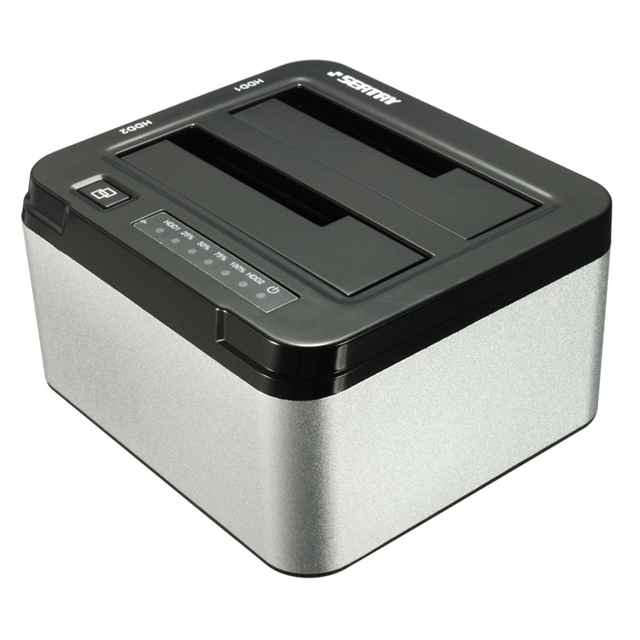 "High Quality SEATAY 1pcs 2.5"" 3.5"" USB 3.0 Dual SATA HDD Enclosure Caddy Case Hard Drive Disk HDD Dock Docking Station"