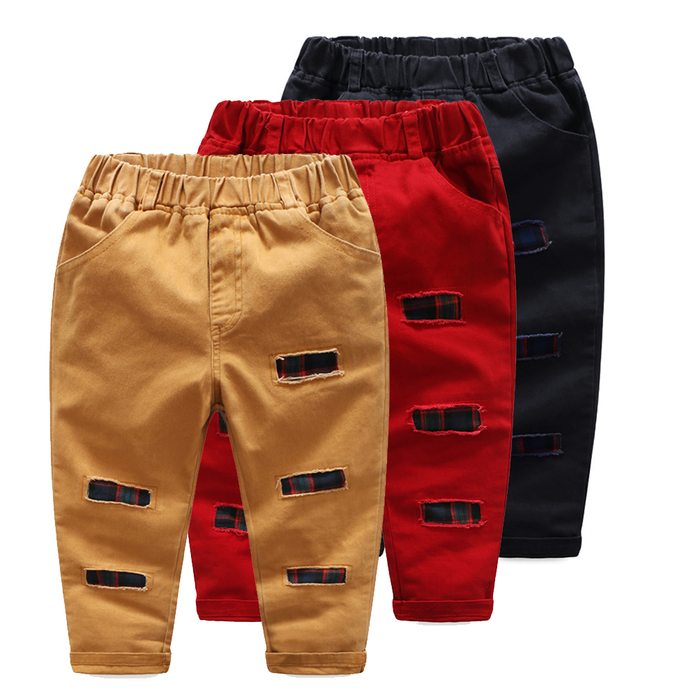 Baby Boys Pant Fashion Plaid Patchwork Pants Spring Summer Bottoms Kids Children Trousers for 3 7Y