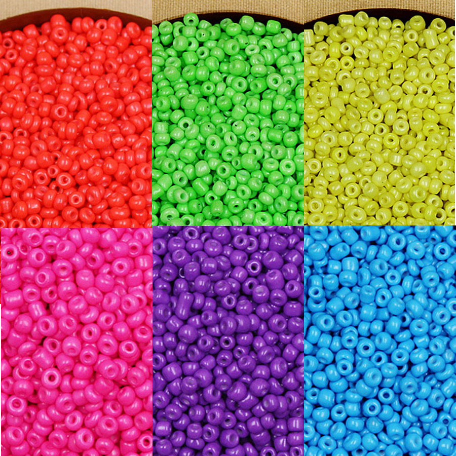 embroidery crafts etc red 40g opaque lustered glass seed beads for jewellery