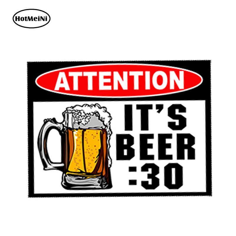Hotmeini 車スタイリング防水 3D ステッカードアラップトップトラックビール 30 注意警告ドリンク飲料パーティークーラーカップ 13x9.75cm