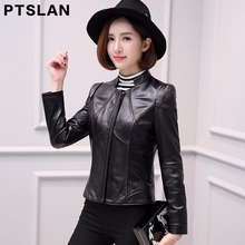 2017 women genuine lambskin jacket full pelt coat real leather slim fit coat biker zipper closure