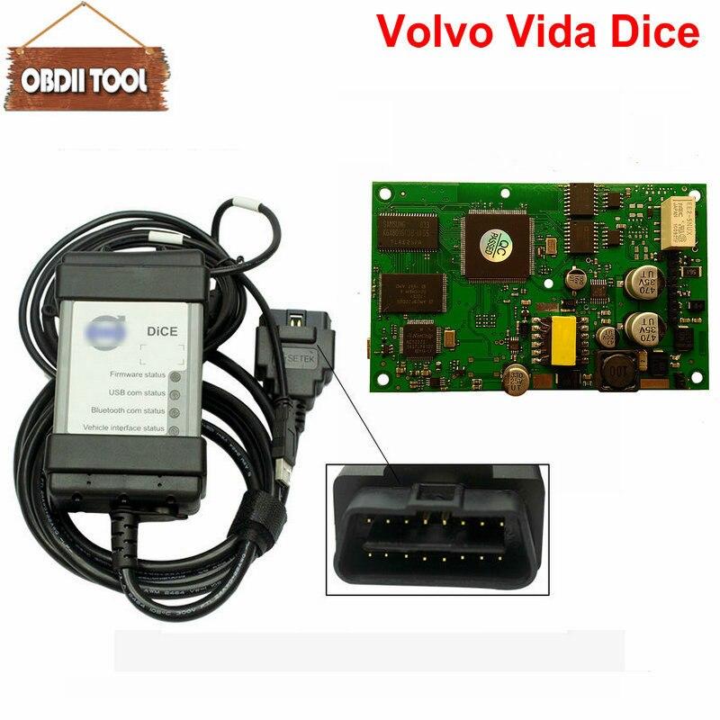 Diagnostic professionnel Pour Volvo Vida Dice 2014D Outil De Diagnostic De Voiture Dice Pro Puce Complète Tableau Vert Pour VOLVO VIda Dice