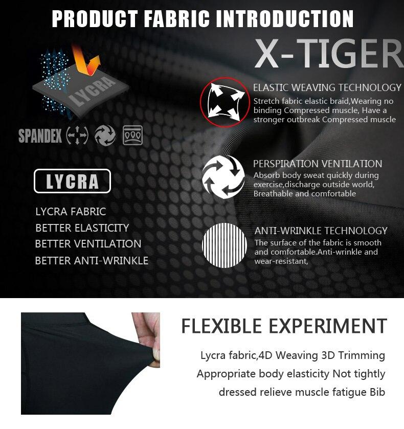 X-tiger pro calções de ciclismo com 8cm
