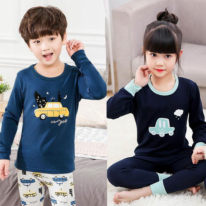 Kids Boys Sleepwear Baby Girl Spring Cotton   Sets   Children Homewear   Pajamas   for Boy Pyjamas Kids Nightwear 2-14Y Teens Pijamas
