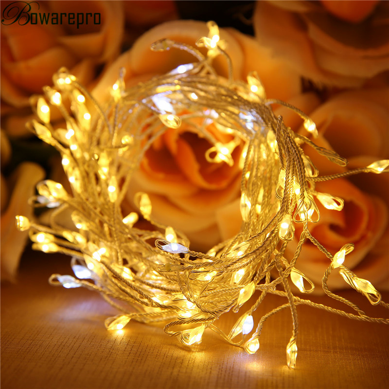 bowarepro Light LED Christmas USB DC 5V Flash Light LED Starry String Lights Rice Pendant Steady Party Christmas Decoration Bar