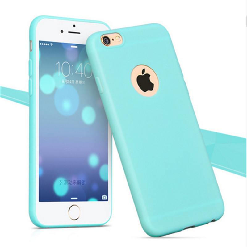 buy online 55cb1 04424 US $0.48 47% OFF Phone Shell for Apple iPhone 6 6S / 5S 5 SE 6 6S 7 Plus  Back Case Cover Candy Color Soft Silicone Cell Phone Cases for iPhone 6S-in  ...