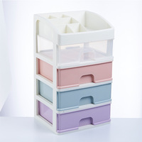 Desktop Drawer Storage Box Candy Color Multi Function Sundries Case Small Object Cosmetic Jewelry Box kitchen Desktop Organizer