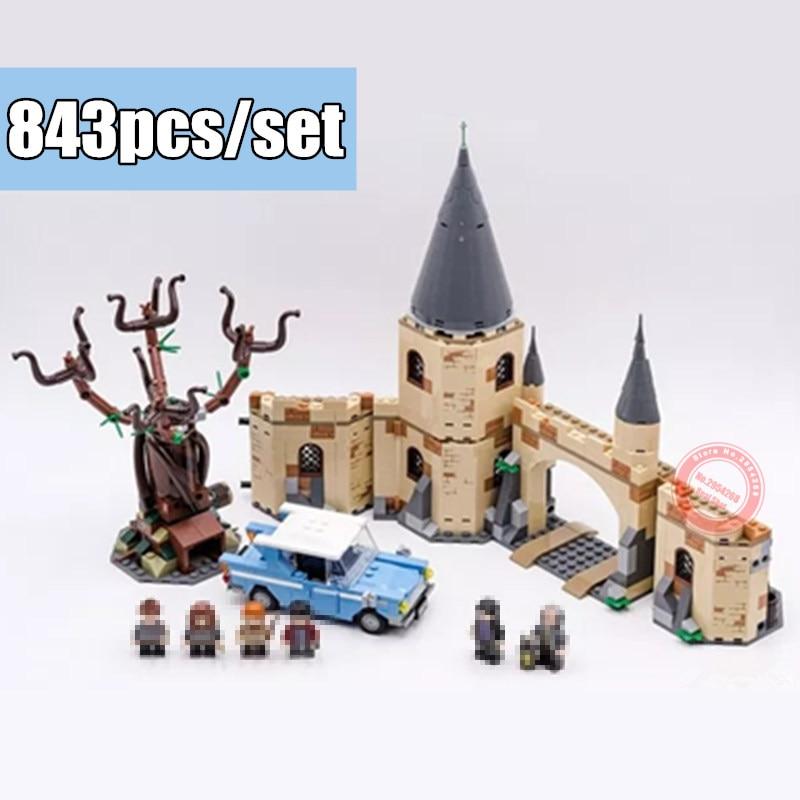Nouveau Harry Film fit legoings Harry Potter Poudlard Cogneur Saule Blocs de Construction briques Enfants 75953 diy Jouets Cadeaux