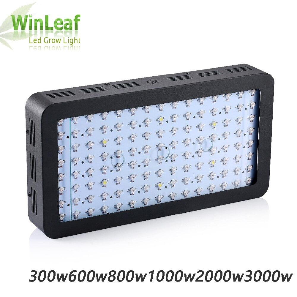 LED crece la luz de espectro completo 600 W 3000 W creciente lámparas Chips de doble para las plantas de interior de efecto invernadero hidropónico de semillas y floración