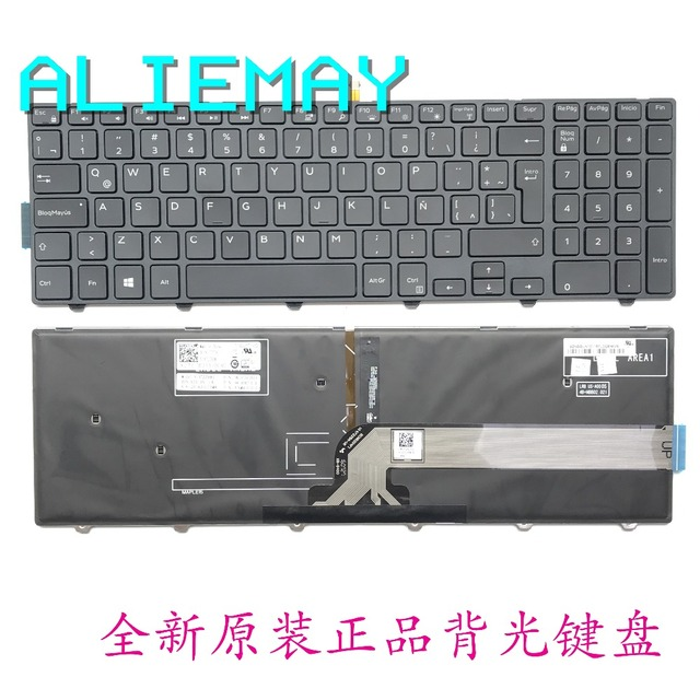 LA 15 SP teclado Retroiluminado Para Dell Inspiron 3000 5000 3541 3542 3543  5542 5545 5547 7559 5577 V3558 V3559 5759 5755