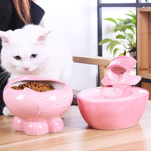 250g Cat Porcelain Feed Pot Cute Bowl Ceramic Pet Food Rice Bowls Tableware For Small Dogs Cats Supplies Food Water Bowls 11*17c