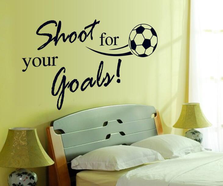 Soccer Ball Football DIY Art Wall Stickers For Kids Boy Living Room ...