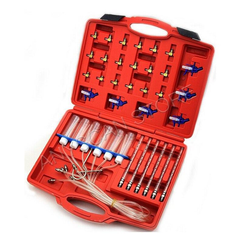 Kit d'essai de débit d'injecteur Diesel Kit de testeur de débitmètre à rampe commune outils automobiles