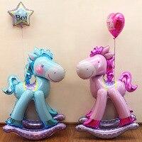 50 Inch Giant Stereo Trojan Baby Shower Foil Balloon Boy Girl 100 Days Kids Birthday Decor Party Supplies Globos