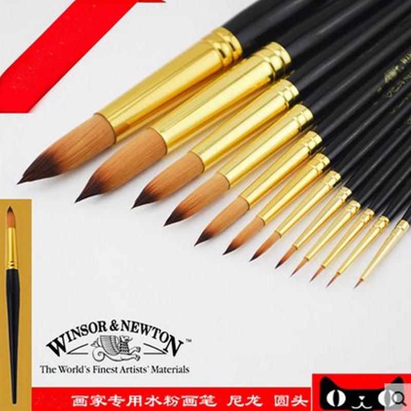 WINDSOR & NEWTON paint brush short rod round nylon watercolor paintbrush Suitable for gouache watercolor acrylic paint brush