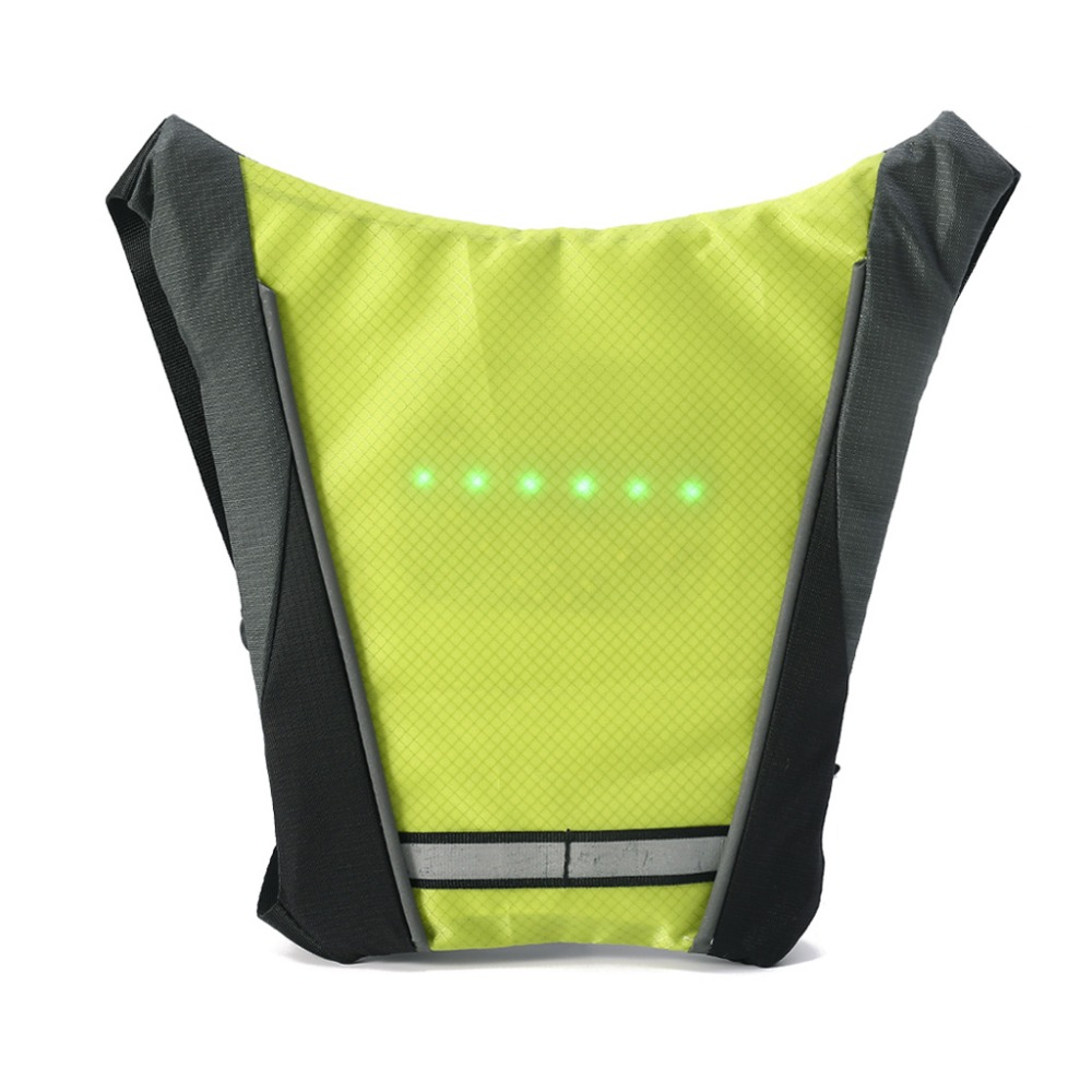 Practical Bicycle Backbag Led Wireless Cycling Vest Safety Bag Led Turn Signal Light Bike Bag Vest Bicycle Reflective Warning Vests Back To Search Resultssports & Entertainment