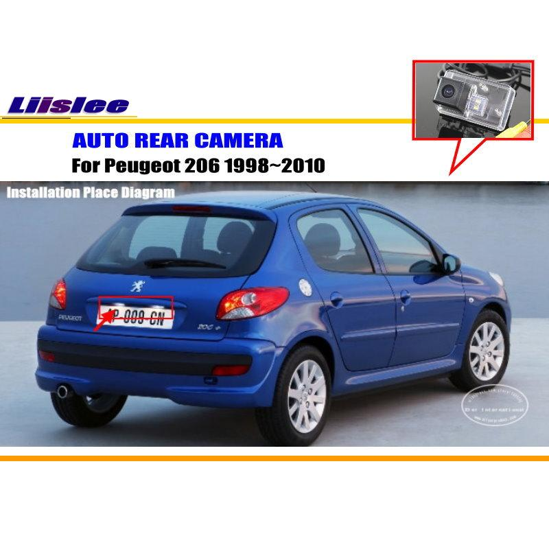 Liislee автомобильная парковочная камера/камера заднего вида для peugeot 206 1998~ 2010/камера заднего вида/лампа номерного знака OEM