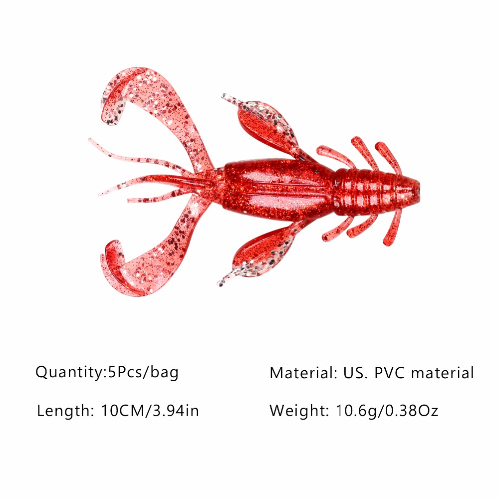 Fishing Lures Craws Shrimp Soft Lure Fishing Bait Wobblers Bass Lures Silicone