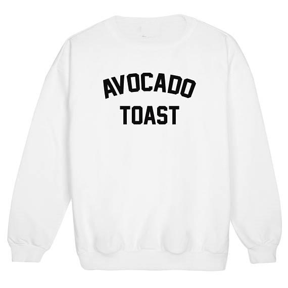 eee3f98cc9 avocado toast fun tumblr sweatshirt hipster swag fashion grunge Unisex  casual tops blogger pullovers aesthetic tops -in Hoodies   Sweatshirts from  Women s ...