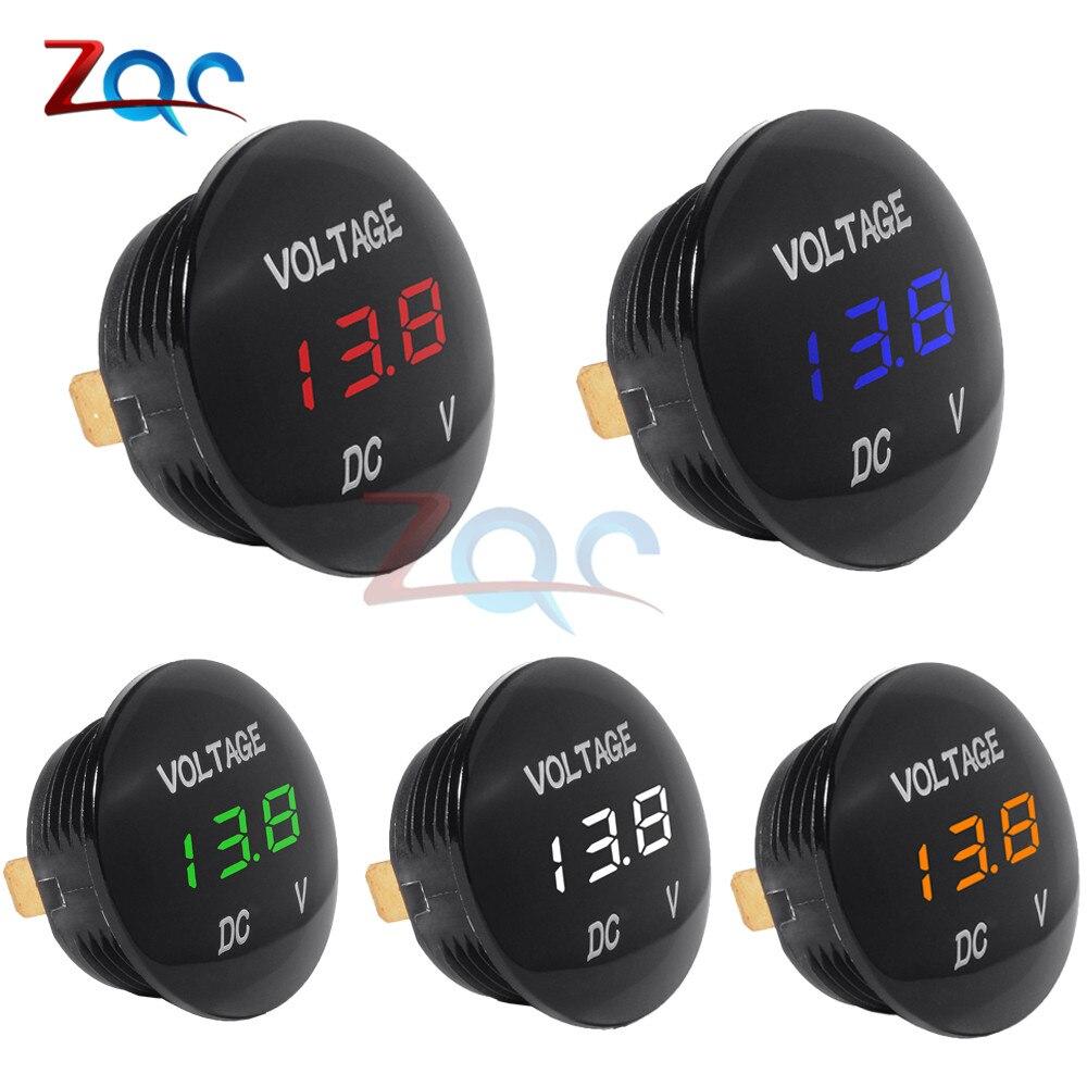 DC 5V-48V Car Motorcycle DC5V-48V LED Panel Digital Volt Voltage Meter Display Voltmeter 12V 24V 36V Waterproof