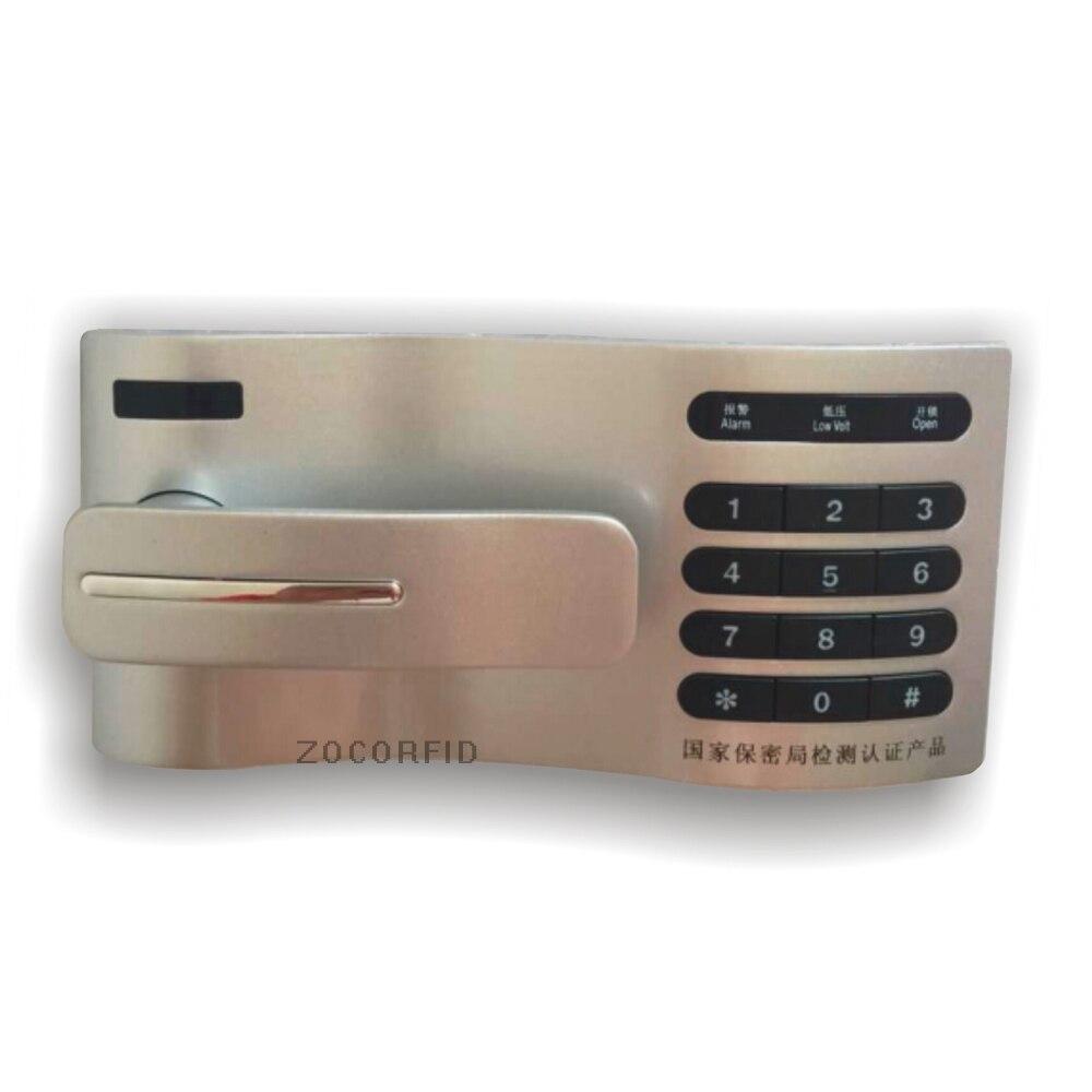 Livraison gratuite bricolage en métal 10 chiffres clavier mot de passe contrôle serrure tiroir casier/mot de passe casier, utiliser 2 XAAA batterie