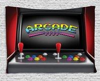 Videospiele Wandbehang Tapisserie Arcade Maschine Retro Gaming Spaß Joystick Knöpfe Vintage Elektronische
