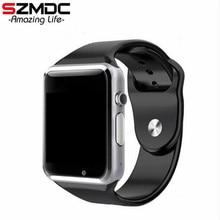 Szmdc A1 Смарт часы с Шагомер Камера sim-карты вызова Smartwatch для huawei Xiaomi htc Android телефон лучше, чем GT08 DZ09
