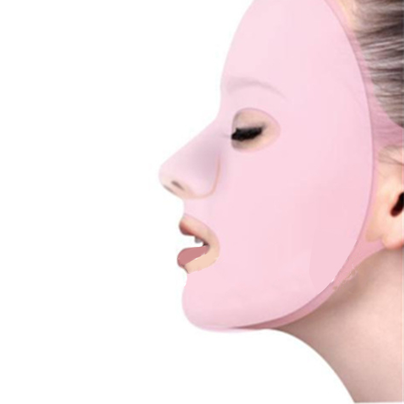 1PC Reusable Silicone Face Mask for the Face Sheet Mask Ear Fixed Anti-off Mask Prevent Essence Evaporating Skin Care Face Mask