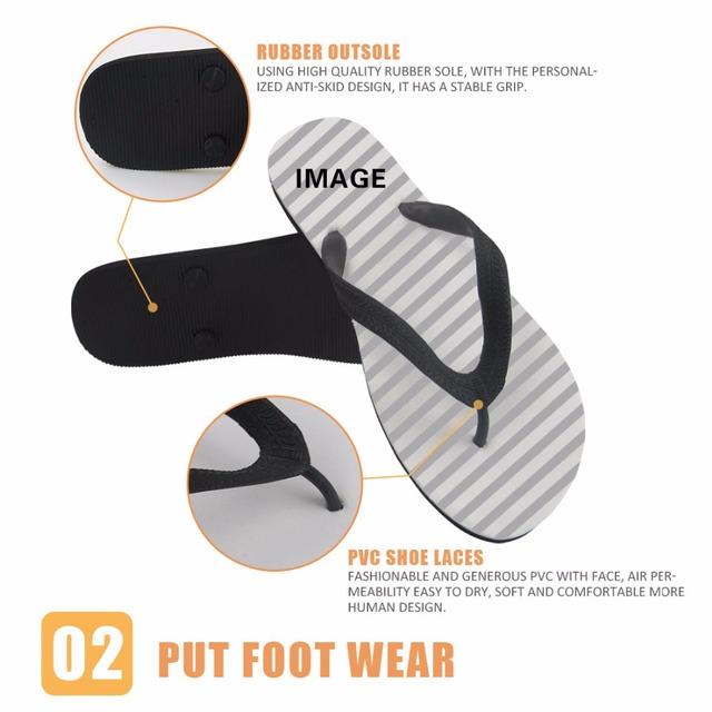 FORUDESIGNS Men's Flip Flops Sandals Rubber Casual Men Shoes Summer Fashion Beach Flipflops Cool Dolphin Slipper Sandalia